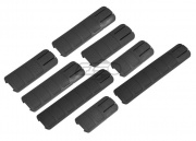 Lancer Tactical DT Assorted Rail Cover 8 PC. Set (Black)