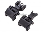 Emerson Front & Rear Set Folding Battlesight M4 Style (Black)
