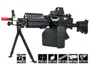 A&K Full Metal M249 MK46 SPW AEG Airsoft Gun (Box Magazine Included)