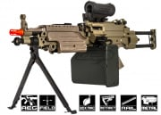 A&K Full Metal M249 Desert PARA AEG Airsoft Gun (Tan/Box Magazine Included)