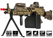 A&K Full Metal M249 Desert MK46 SPW AEG Airsoft Gun (Tan/Box Magazine Included)