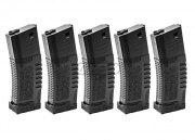 Amoeba High Grade 140rds AEG Mid Capacity Magazine Box Set (Black/5 Pack)