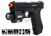 APS ACP Action Combat Pistol CO2 Airsoft Gun (Black)