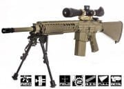 Knight's Armament Full Metal M110 SASS W/ETS AEG Airsoft Gun (Tan) by ARES