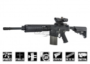 Knight's Armament Full Metal SR-25ER W/ETS AEG Airsoft Gun (Black) by ARES