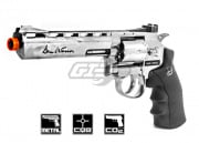 "ASG Dan Wesson 6"" CO2 Chrome Revolver Airsoft Gun"