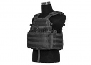 Lancer Tactical 4906 Plate Carrier W/ Triple Inner Mag Pouch (Black)
