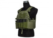Lancer Tactical SLK Plate Carrier W/ Side Plate Dual Magazine Compartment (OD)