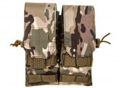 Lancer Tactical Double M4/M16 Magazine Pouch (Camo)