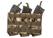 Lancer Tactical AK M4/M16 Triple Wedge Magazine Pouch w/Variable Depth Adjustment (Camo)