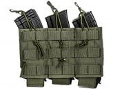 Lancer Tactical Triple Wedge AK/M4/M16 Magazine Pouch MOLLE w/ Variable Depth Adjustment (OD Green)