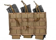 Lancer Tactical Triple Wedge AK/M4/M16 Magazine Pouch MOLLE w/ Variable Depth Adjustment (Coyote)