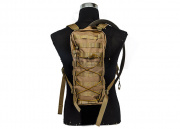 Lancer Tactical Hydration Backpack MOLLE Attachable (Tan)
