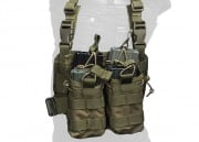 Lancer Tactical Bungee Magazine Pouch Leg Rig MOLLE (OD Green)