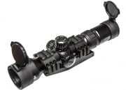 Lancer Tactical 1.5 - 5 x 40 Tri-Illuminated Mil-Dot Rifle Scope