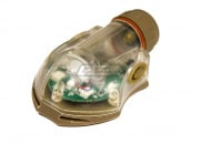 Lancer Tactical FMA Snail Helmet Mounted Distress Marker Strobe Light (Dark Earth/Green Light/Type 1)