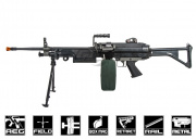 Classic Army Full Metal M249 MK1 AEG Airsoft Gun w/ Box Mag Package