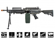 Classic Army Full Metal M249 MK46 SPW AEG Airsoft Gun w/ Box Mag Package