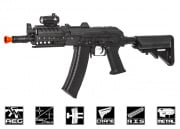 CYMA Full Metal AKS 74 UN Tactical AEG Airsoft Gun (Black/Metal Body)