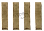 "Condor Outdoor 4"" MOD STRAPS ( 4 / PACK ) , TAN"