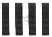 "Condor Outdoor 4"" MOD Straps (4 Pack/Black)"