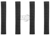 "Condor Outdoor 6"" MOD Straps (4 Pack/Black)"