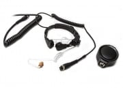 Code Red Headsets Assault-Mid Tactical Throat Mic for Midland 2 Pin Radios