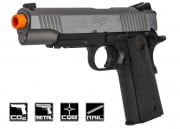 Colt Full Metal Rail Gun 1911 CO2 Blowback Airsoft Gun (Two Tone)