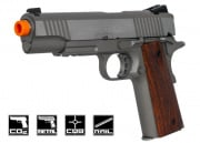 Colt Full Metal Rail Gun 1911 CO2 Blowback Airsoft Gun (Silver)