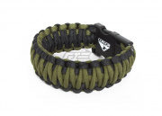 "Condor USB Paracord Bracelet 2 GB Storage (Black/OD Green/6.5"" Long)"