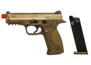 March Mayhem Smith & Wesson M&P GBB Airsoft Gun Bundle Package (DE)