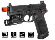 FN Herstal FNX-45 Tactical GBB Airsoft Gun Licensed by Cybergun (Black)
