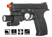 Smith & Wesson M&P 9 Full Size Semi/Full Auto GBB Airsoft Gun (Black/Licensed by Cybergun)
