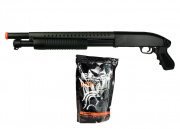 Double Eagle M58B Tactical Shotgun Airsoft Gun (Pistol Grip) w/ Lancer 0.20g BBs Package