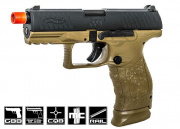 Elite Force Walther PPQ Tactical GBB Pistol Airsoft Gun (Black/Dark Earth)