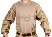 TMC Combat Shirt By Lancer Tactical  (Tan/M/LG)