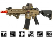 Valken Combat Machine MK18 MOD1 Rifle With Valken V12 Engine Airsoft Gun (Tan Body/2-Tone)