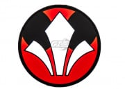 Airsoft GI Rebel Logo PVC Patch (Black/White/Red)
