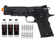 Airsoft GI Blackwater Full Metal 1911A1 Gas Blow Back CO2 Pistol Airsoft Gun Starter Package