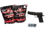 Blackwater Full Metal 1911A1 CO2 Blowback Pistol Airsoft Gun Player Package