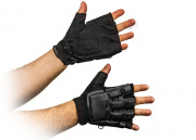 Airsoft GI Armored Half Figure Gloves ( Black / L )