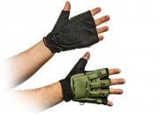 Airsoft GI Armored Half Figure Gloves (OD Green/XS/S/M/L/XL)