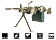 Airsoft GI Custom M249 MKII Polar Star Airsoft Gun (Black Card Custom)