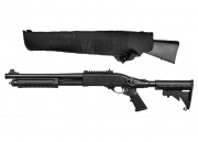 Jag Arms Scattergun TS Gas Shotgun Airsoft Gun w/ Scabbard (Black/Black)