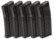 DYTAC Hexmag Airsoft 120 rd. AEG Mid Capacity Magazine - 5 Pack (Black)