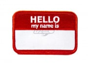 ill Gear HELLO MY NAME IS Velcro Patch