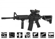 JG M4 SOPMOD RIS Carbine AEG Airsoft Gun Enhanced Version (Black)