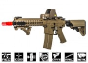 Knight's Armament SR-16E3 CQB MOD 2 Carbine AEG Airsoft Gun by Echo 1 (Tan)
