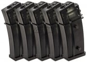 King Arms G36 470 rd. AEG High Capacity Magazine - 5 Pack (Black)
