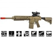 Knight's Armament Full Metal SR-25ER W/ETS AEG Airsoft Gun (Tan) by ARES